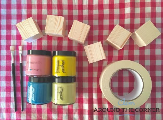 tutoriel diy cubes en bois pour b b. Black Bedroom Furniture Sets. Home Design Ideas