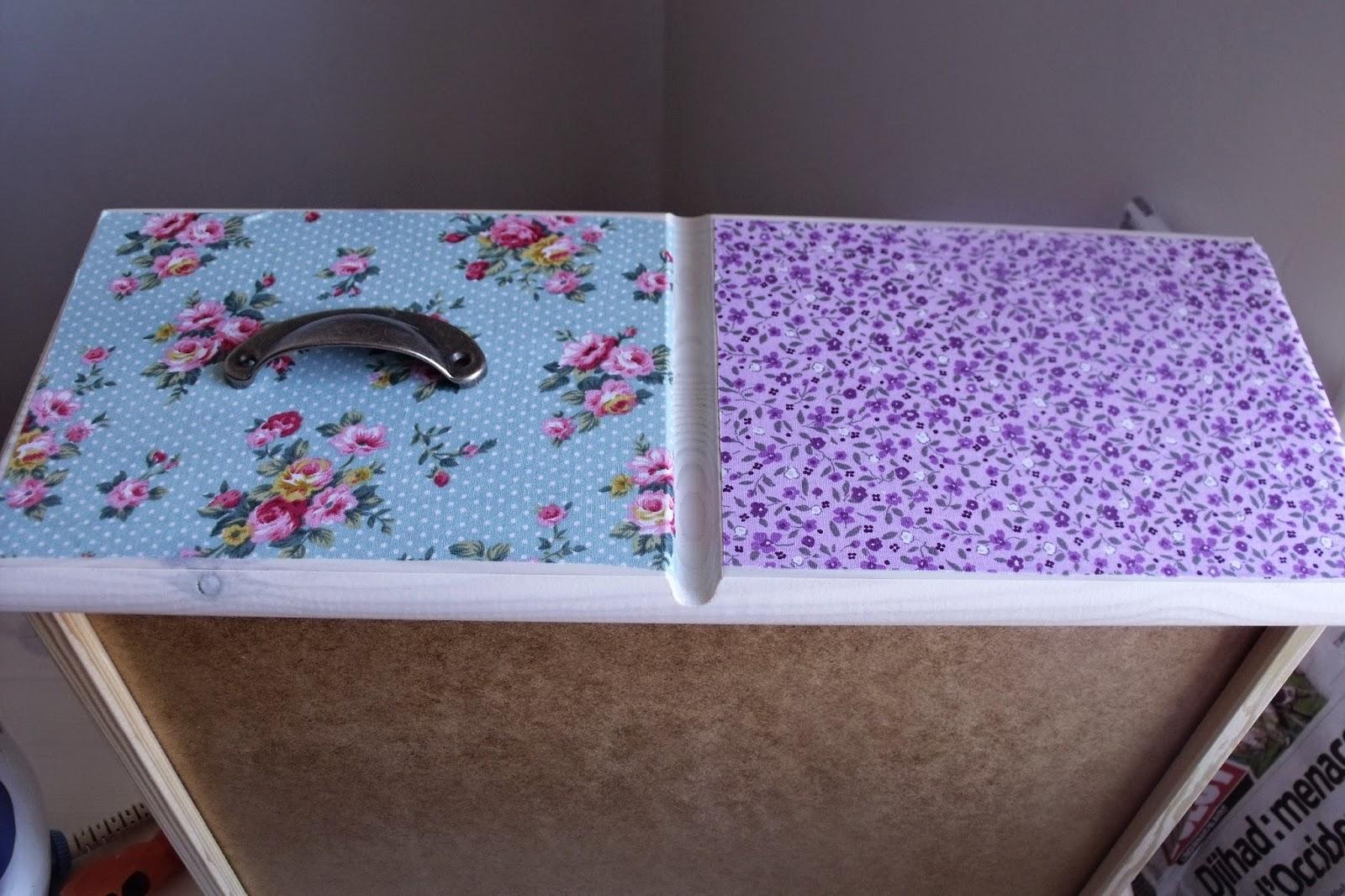 tutoriel diy customiser une commode avec du tissus. Black Bedroom Furniture Sets. Home Design Ideas