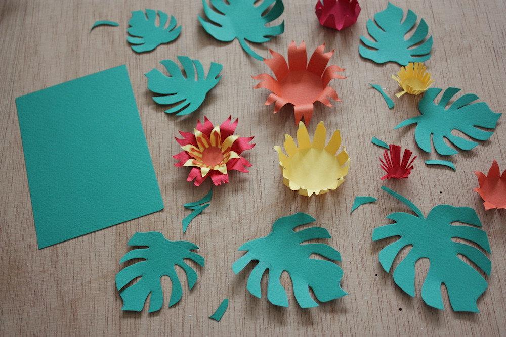 Tutoriel diy carte fleurie en papier - Fleur commencant par t ...