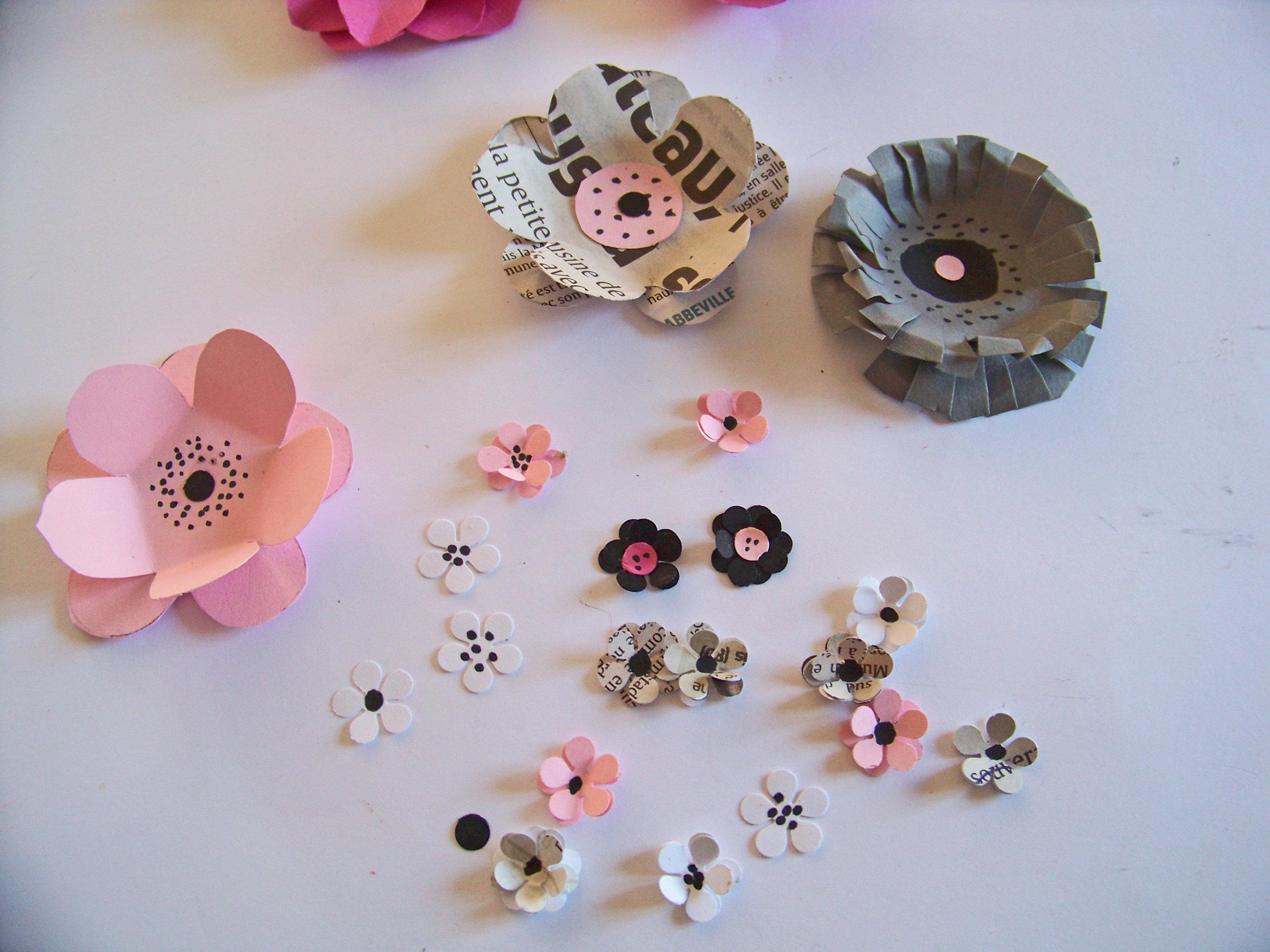 tutoriel diy les fleurs en papier s encadrent. Black Bedroom Furniture Sets. Home Design Ideas