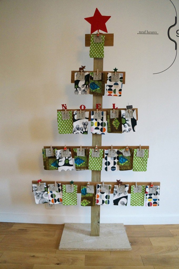 tutoriel diy mon calendrier de l avent sapin de no l. Black Bedroom Furniture Sets. Home Design Ideas