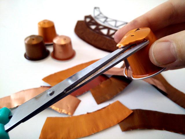 tutoriel diy bijoux cuivre fabriqu avec des capsules nespresso. Black Bedroom Furniture Sets. Home Design Ideas
