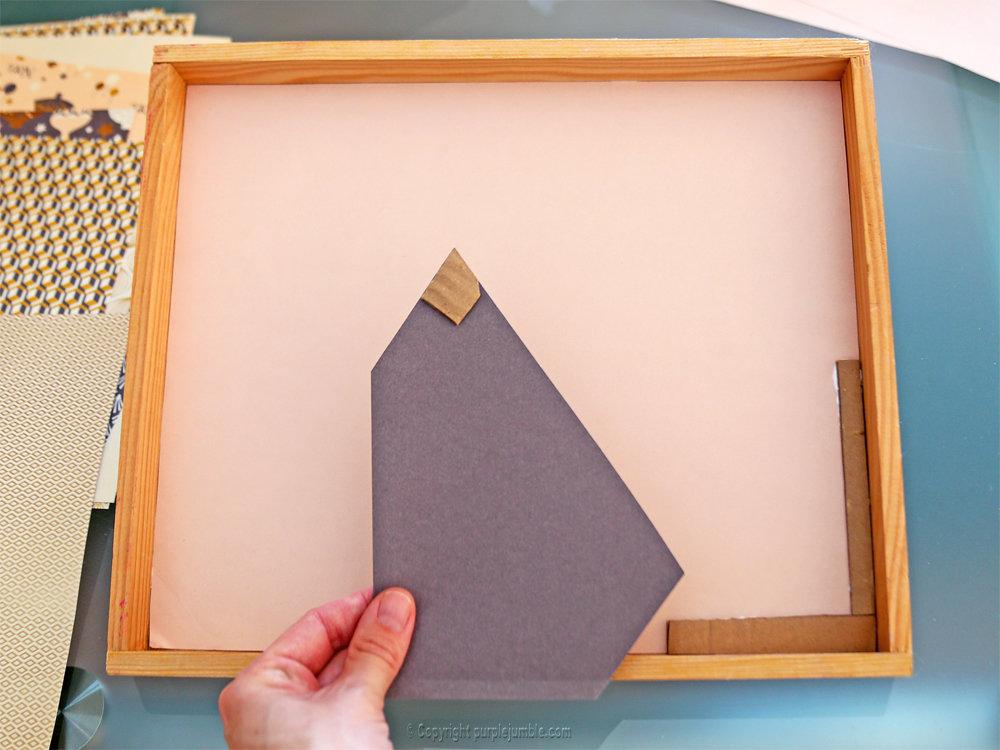 Diy cadre licorne papier decoupe 3