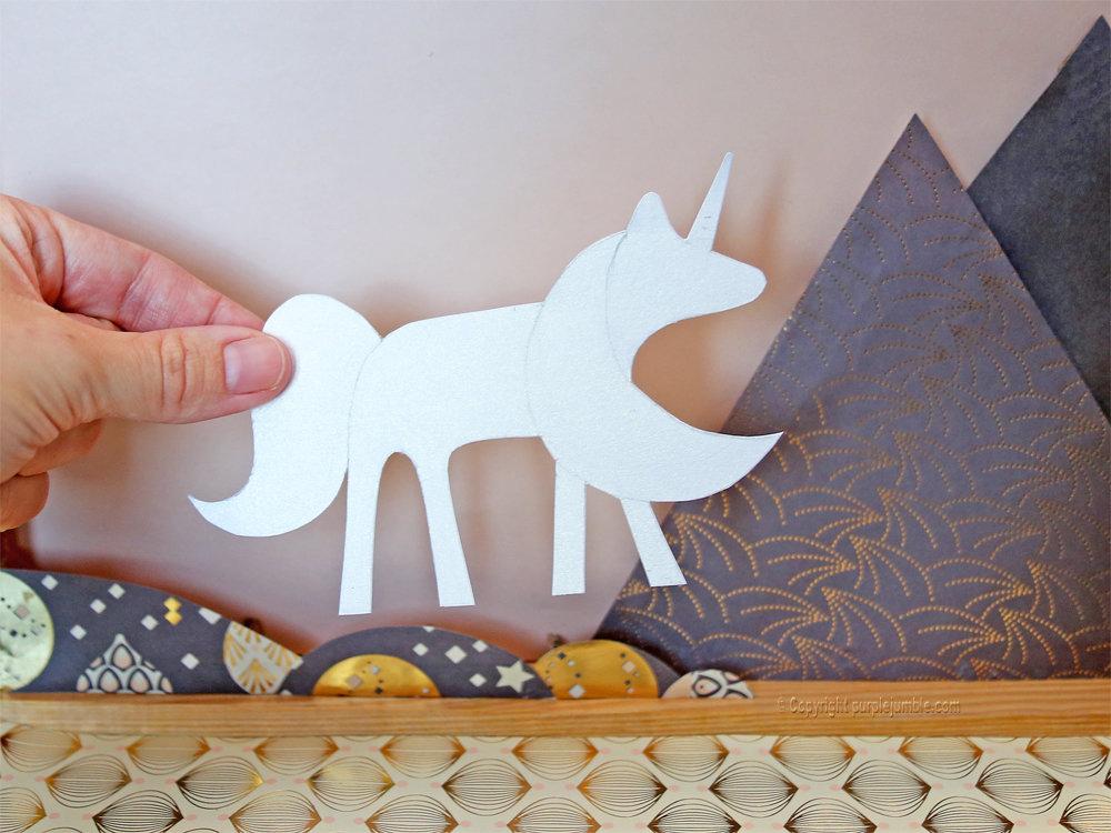 Diy cadre licorne papier decoupe 8