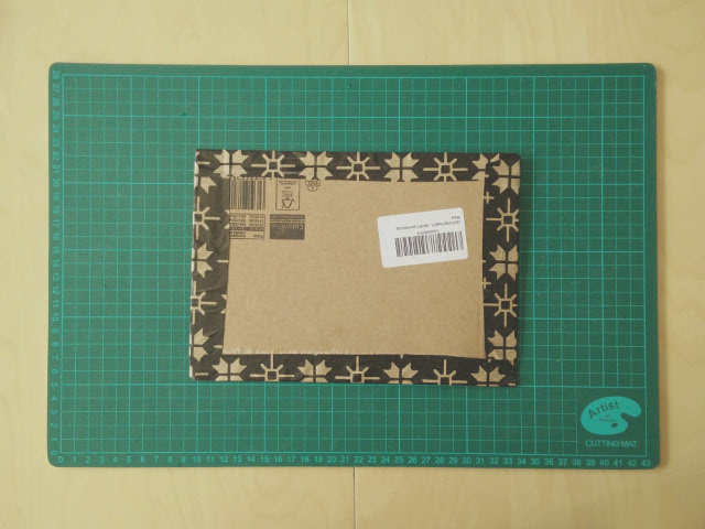 Christmas photo album made from recycled wrapping paper 05