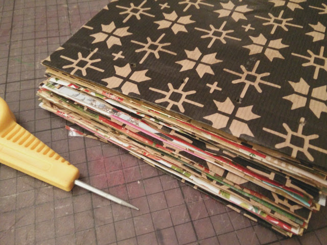 Christmas photo album made from recycled wrapping paper 13