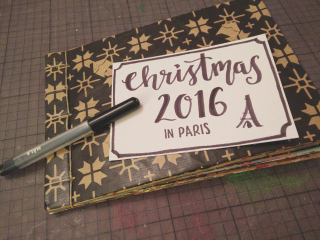 Christmas photo album made from recycled wrapping paper 15