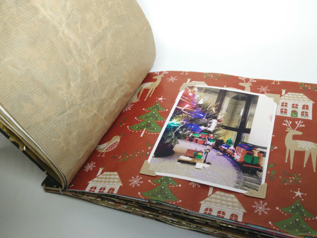 Christmas photo album made from recycled wrapping paper 20