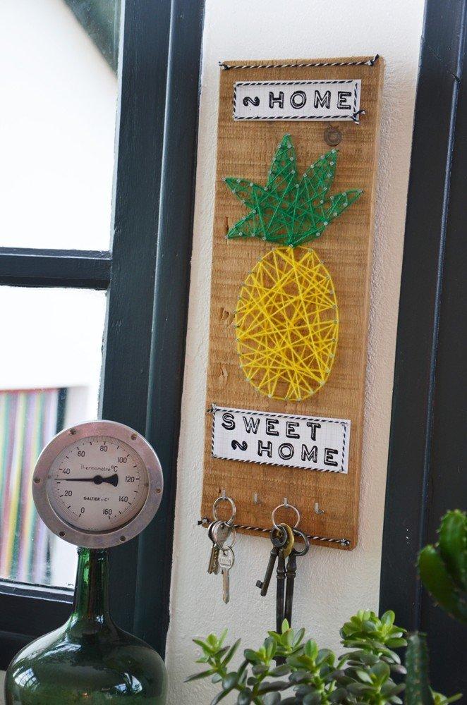 Diy porte cles mural ananas creamalice16