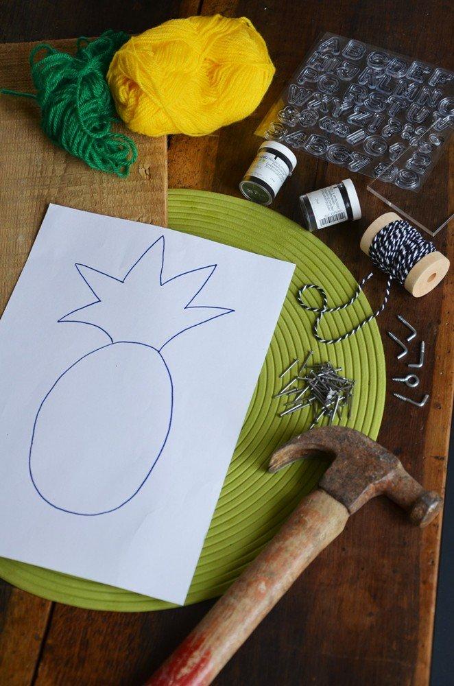 Diy porte cles mural ananas creamalice1
