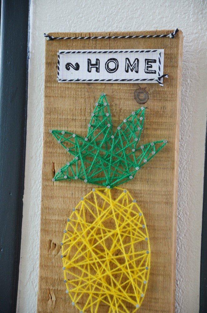 Diy porte cles mural ananas creamalice17