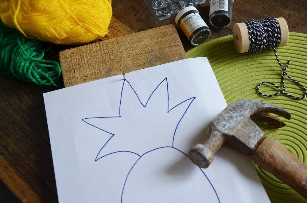 Diy porte cles mural ananas creamalice2