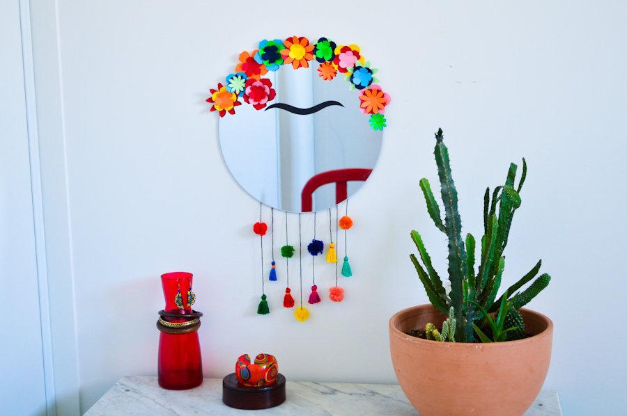 Diy miroir frida kahlo