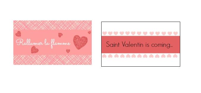 tiquettes saint valentin