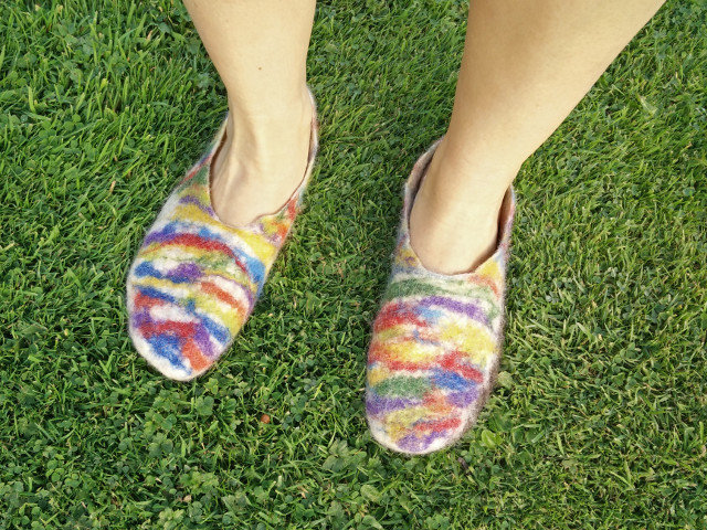Hand felted slippers 15