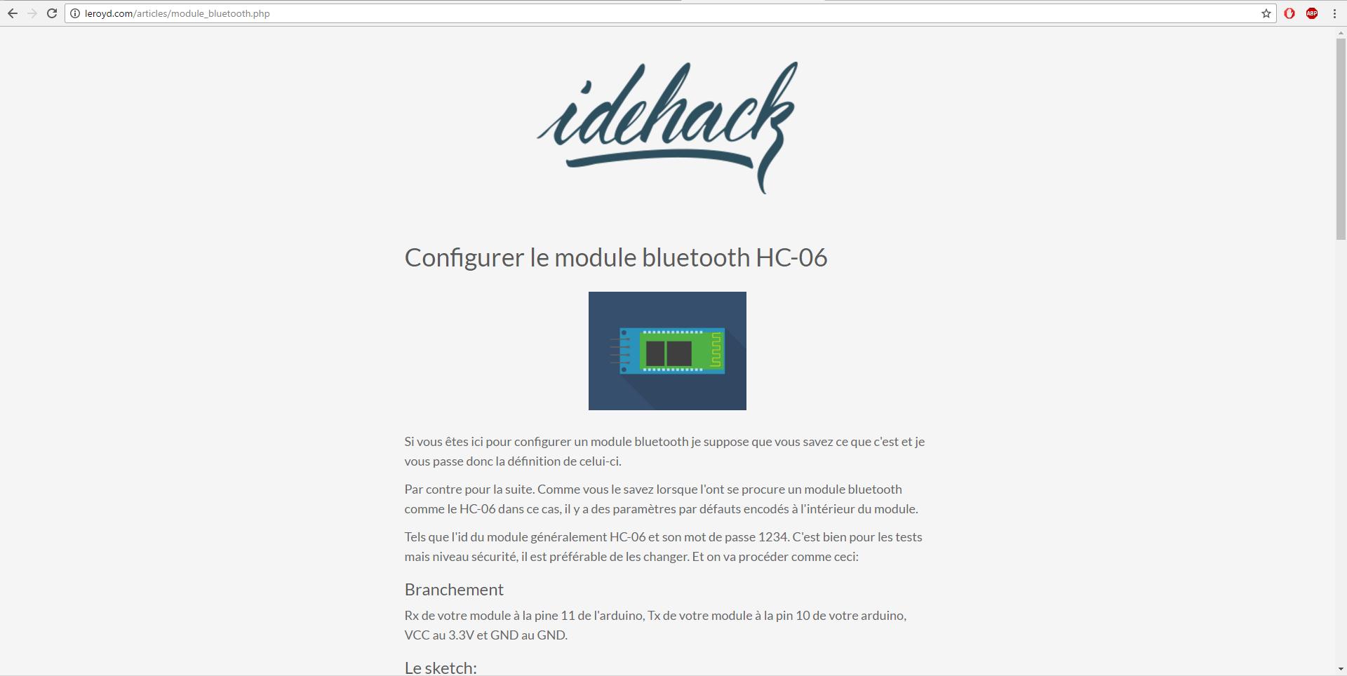 Hc06 config