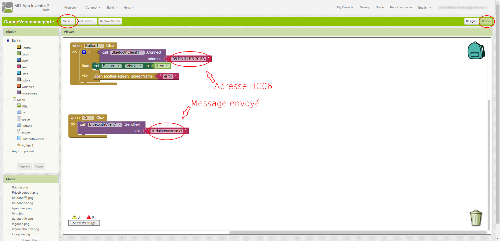 Modif code app