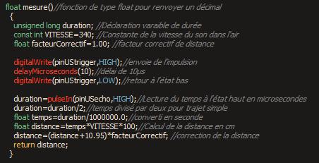 Code hc sr04