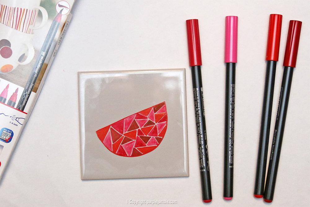 Diy ceramique fruits geometriques 4