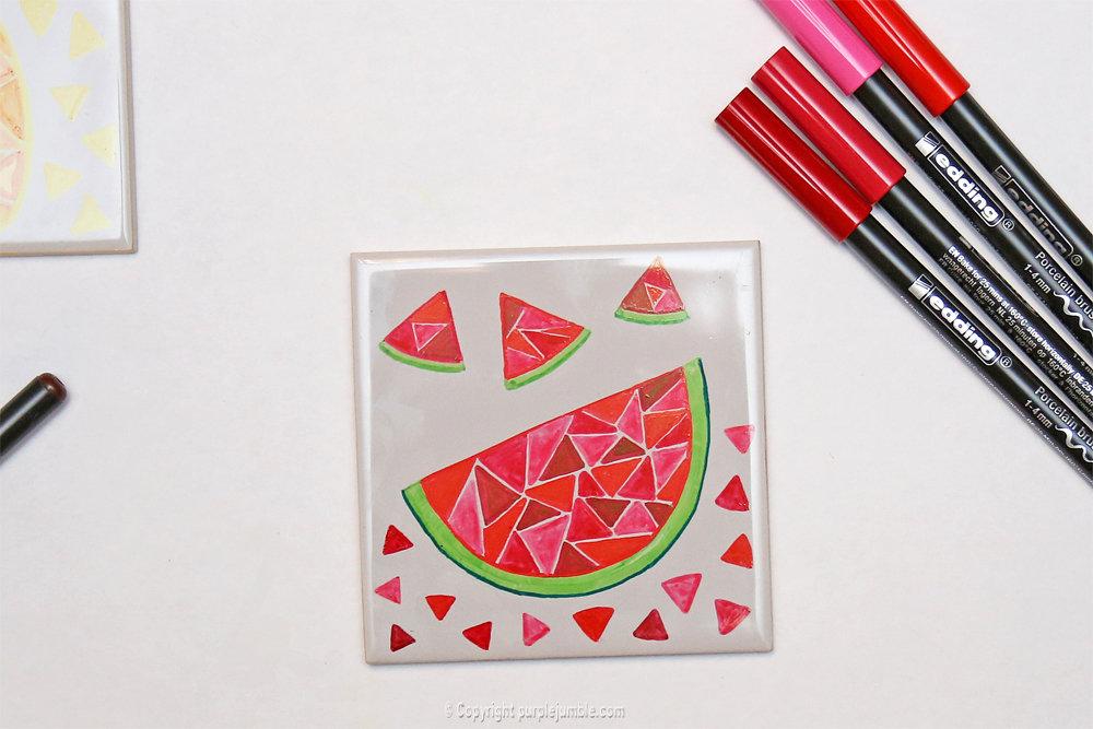 Diy ceramique fruits geometriques 5