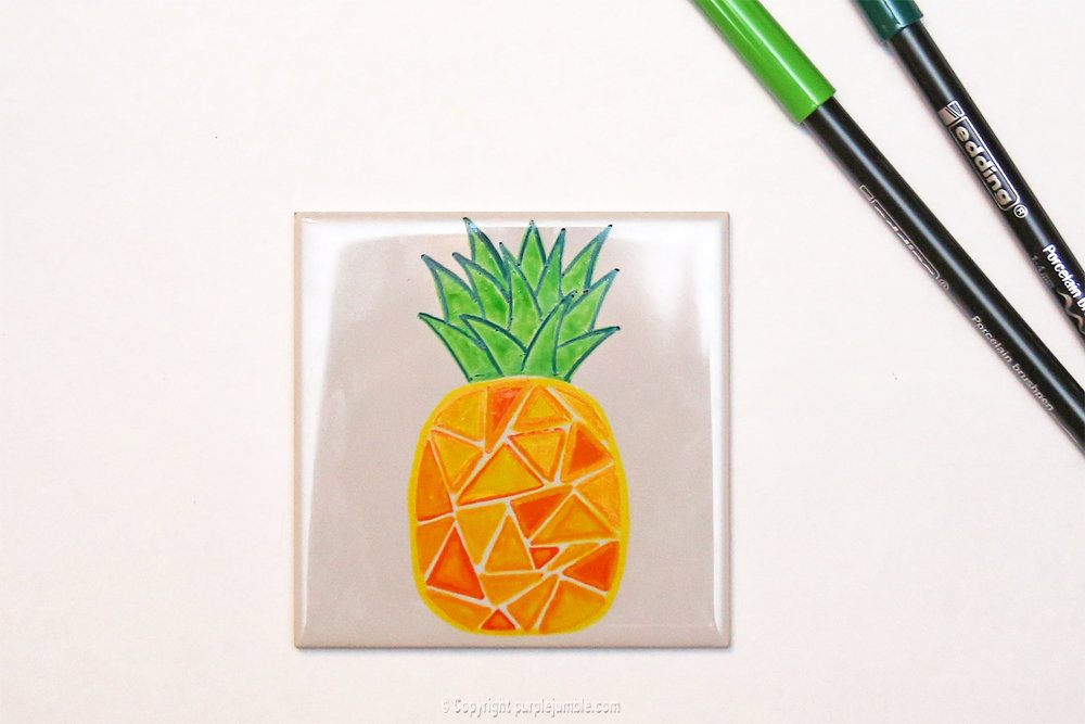Diy ceramique fruits geometriques 7