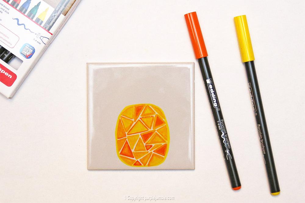 Diy ceramique fruits geometriques 6