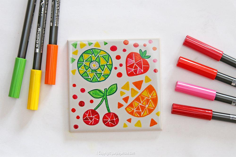 Diy ceramique fruits geometriques 13