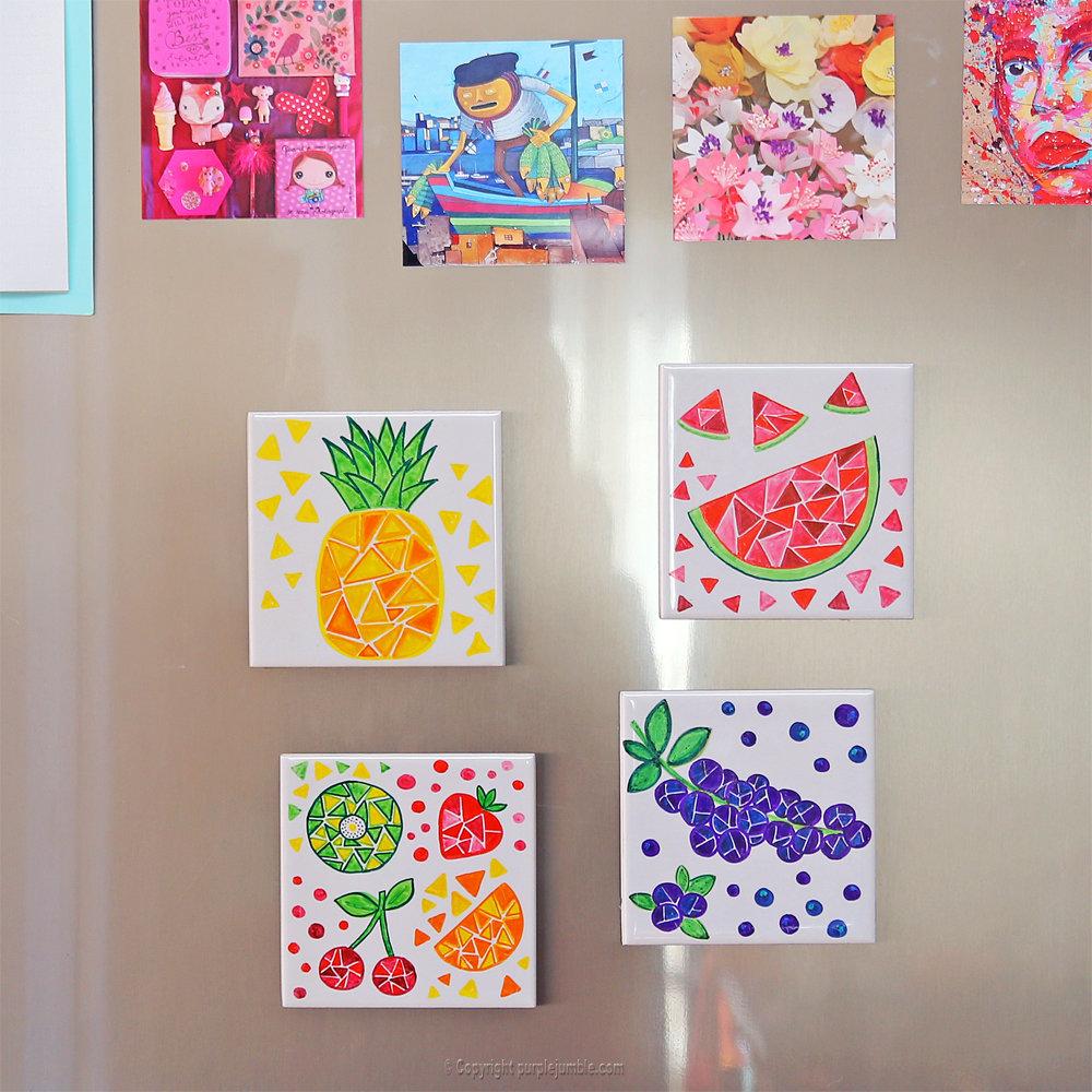 Diy ceramique fruits geometriques 18