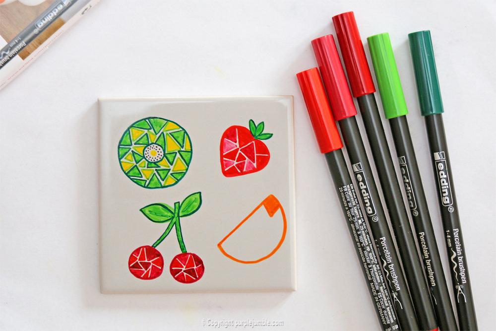 Diy ceramique fruits geometriques 12