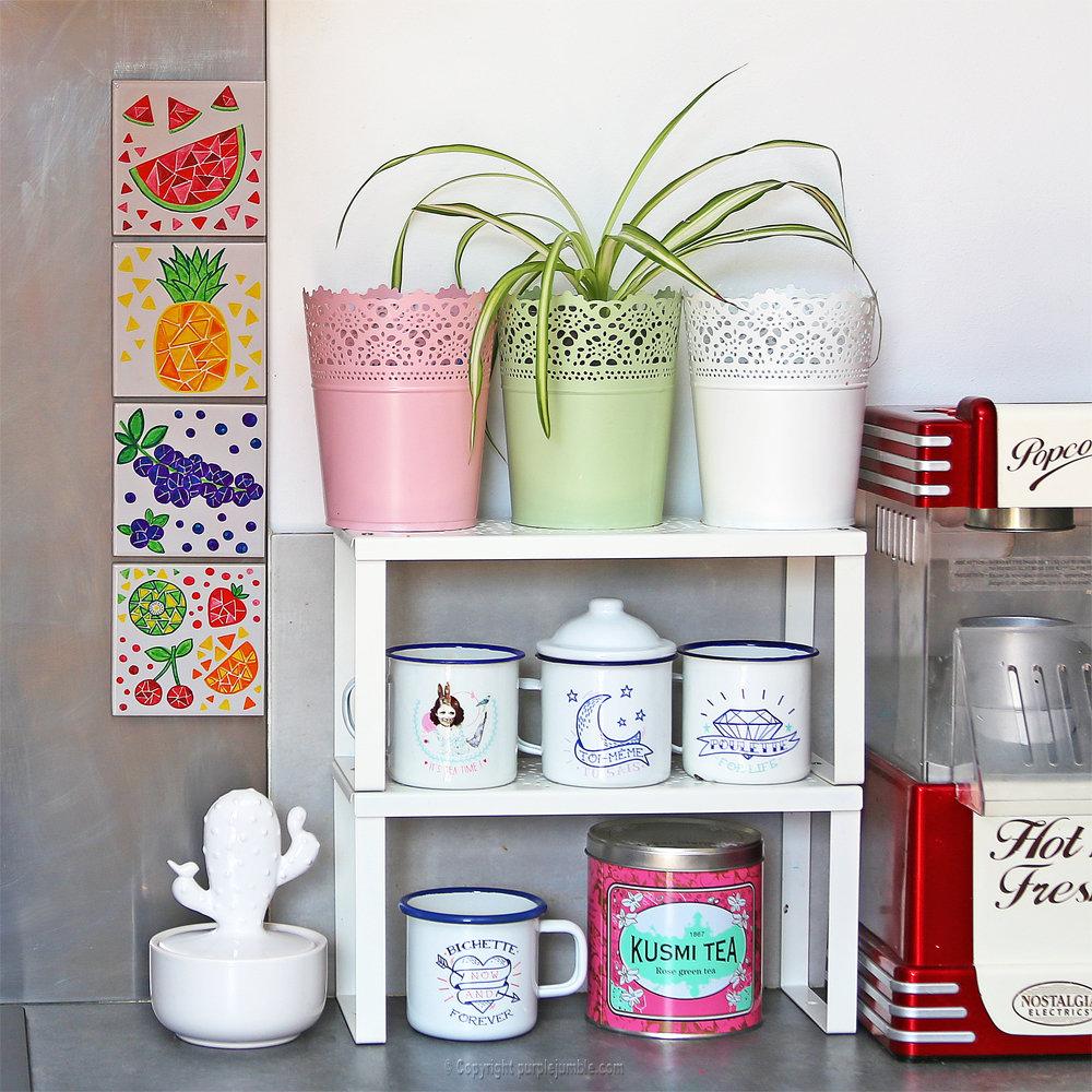 Diy ceramique fruits geometriques 22