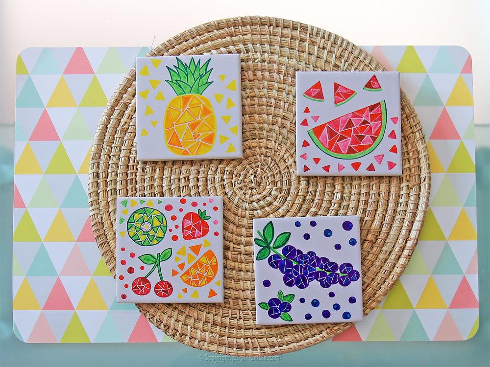 Diy ceramique fruits geometriques 14