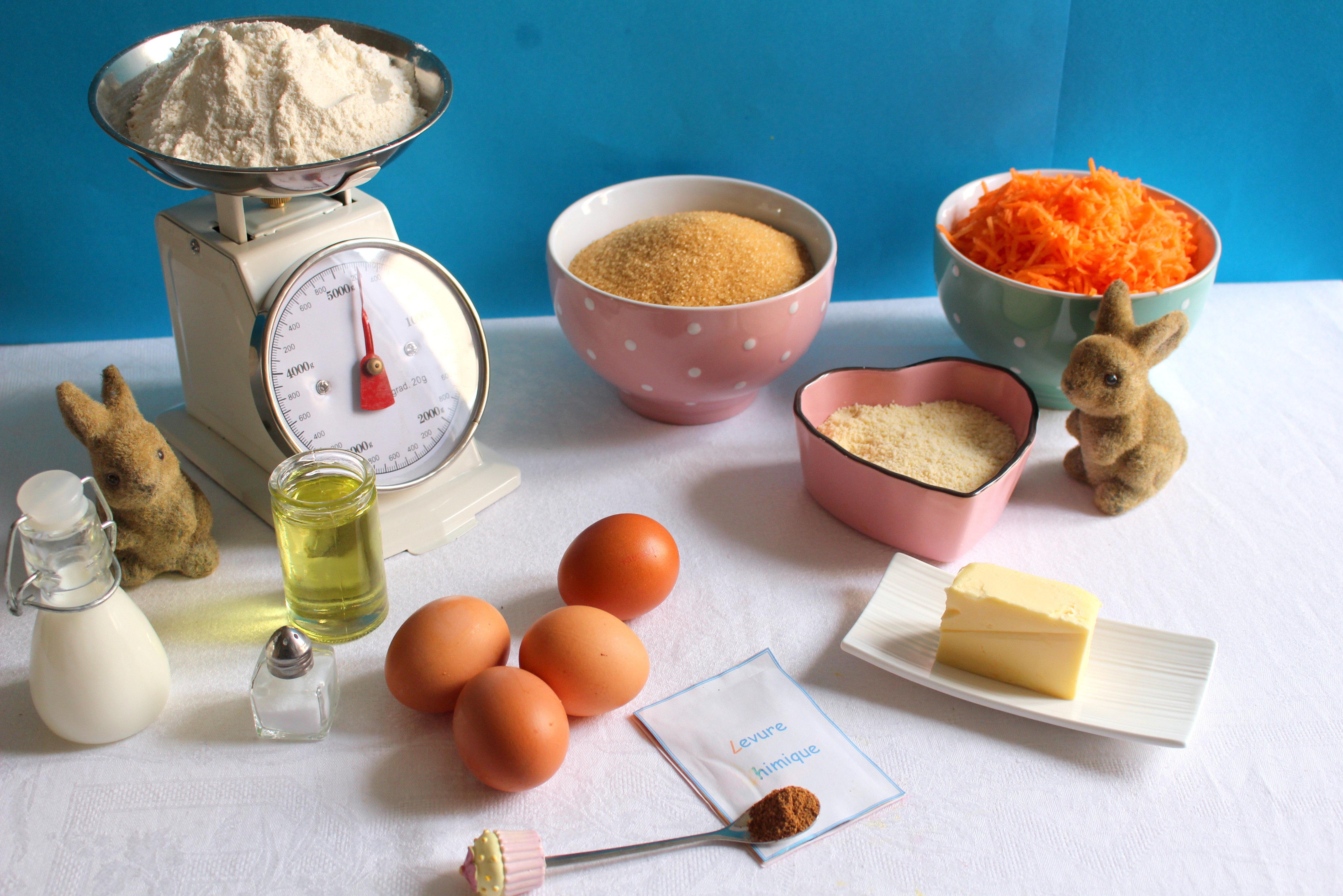 Ingr dients gateau aux carottes
