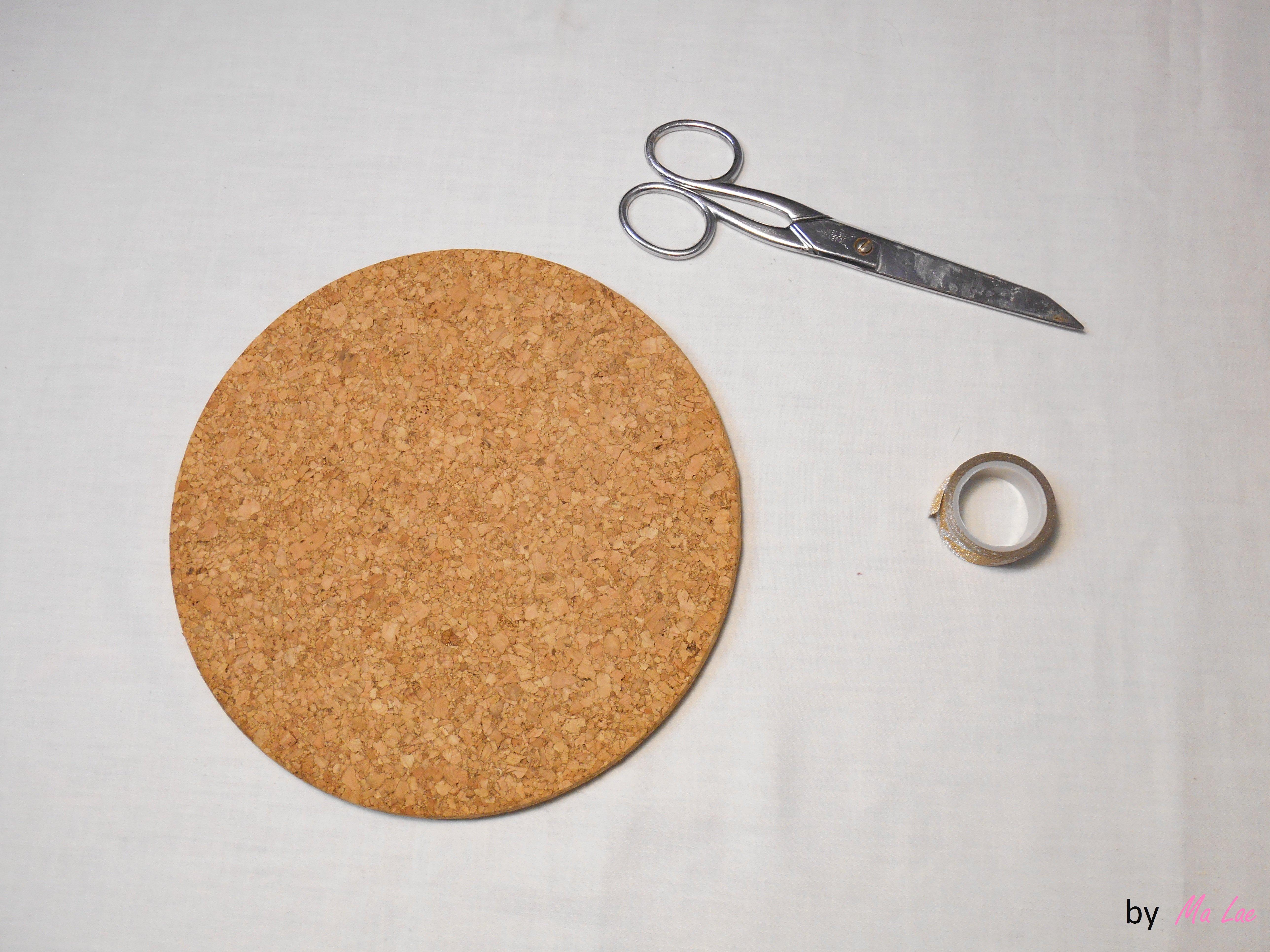 Tutoriel diy d co dessous de plat transform s en cadre d co - Dessous de plat en liege ...