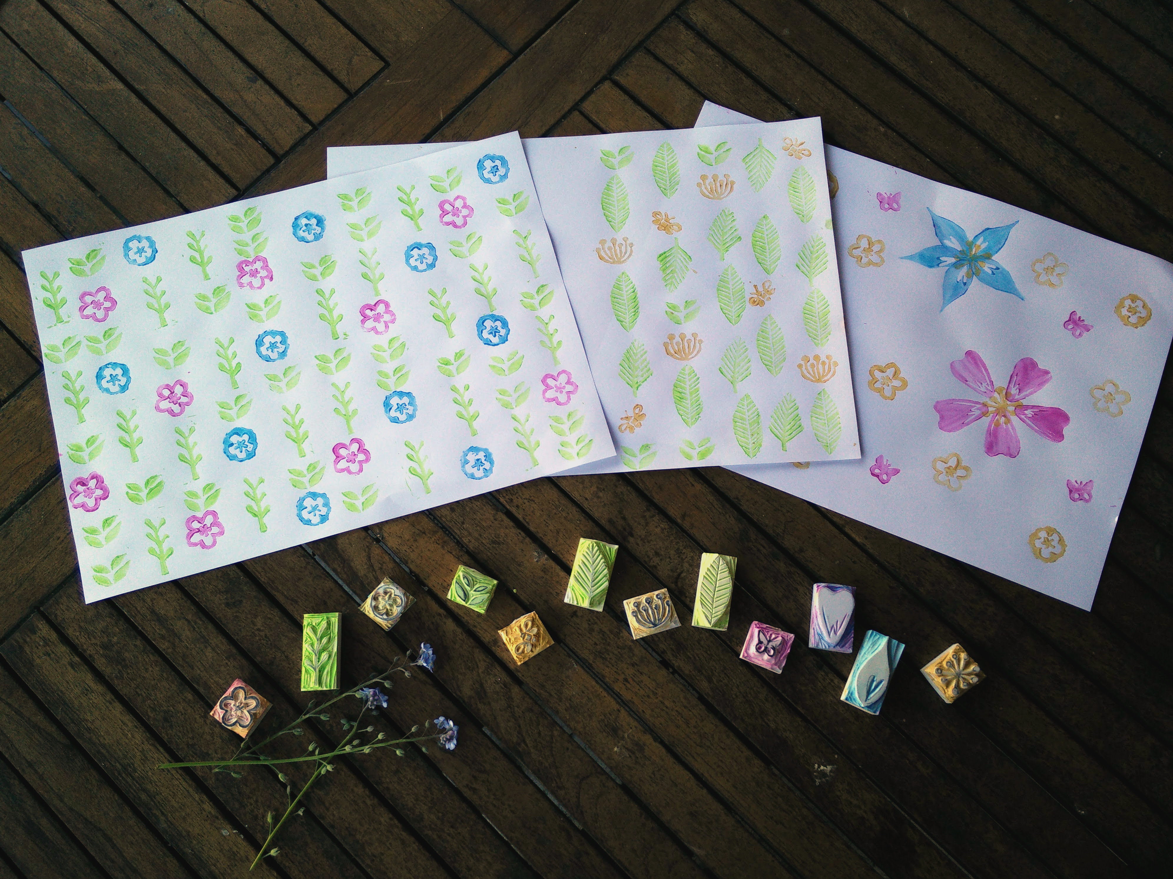 Hand carved rubber stamps 14