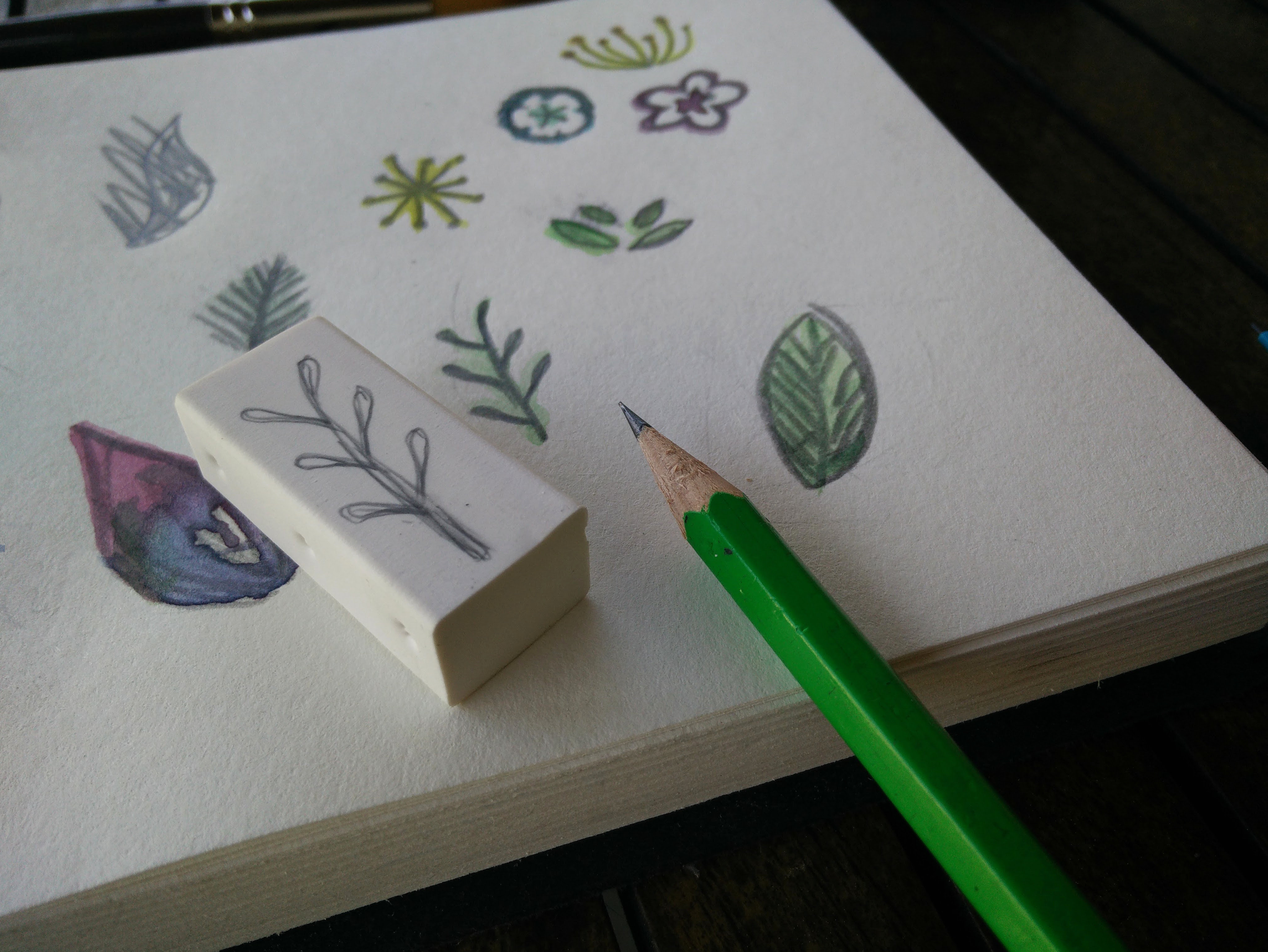 Hand carved rubber stamps 03