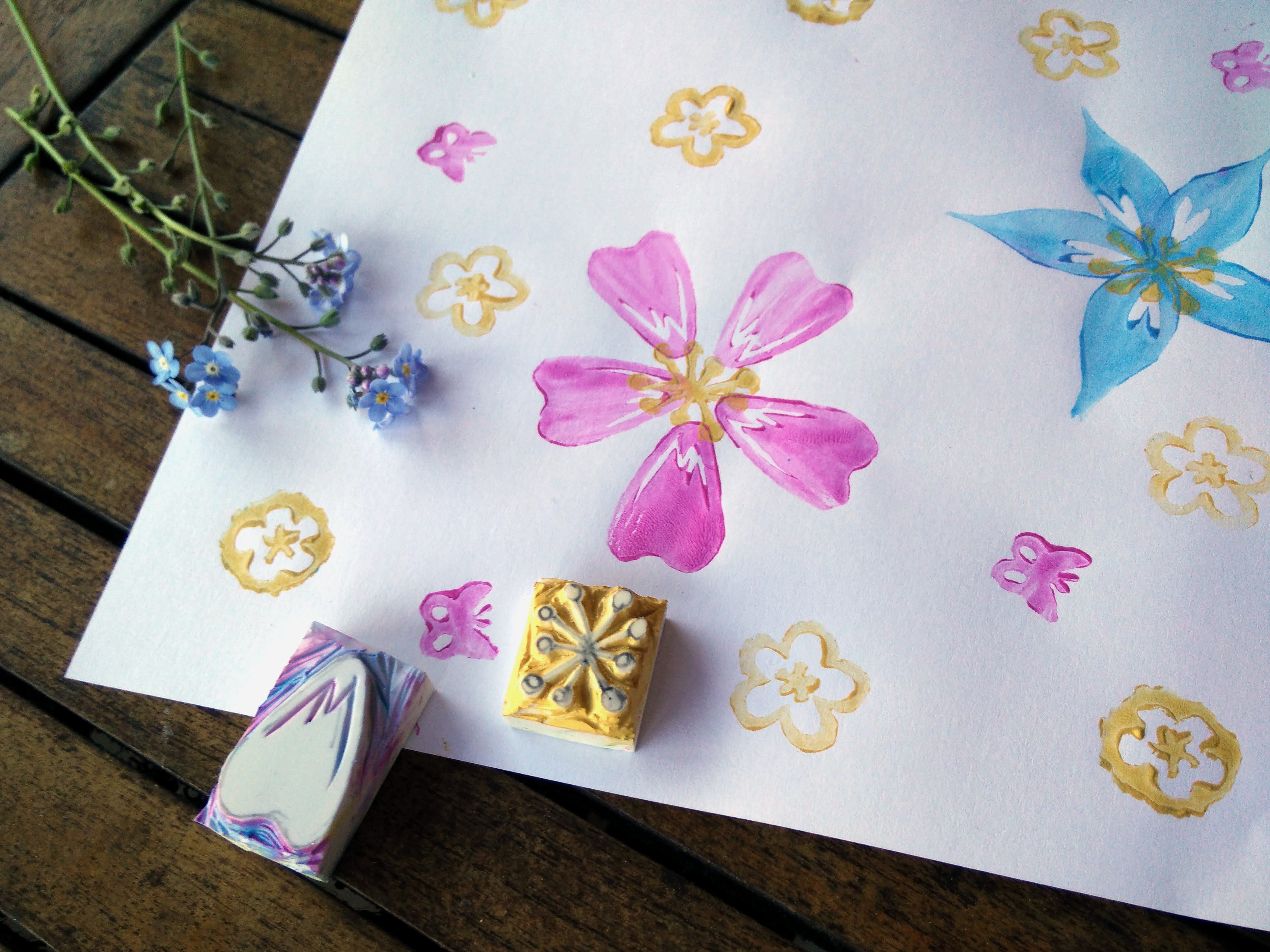 Hand carved rubber stamps 13