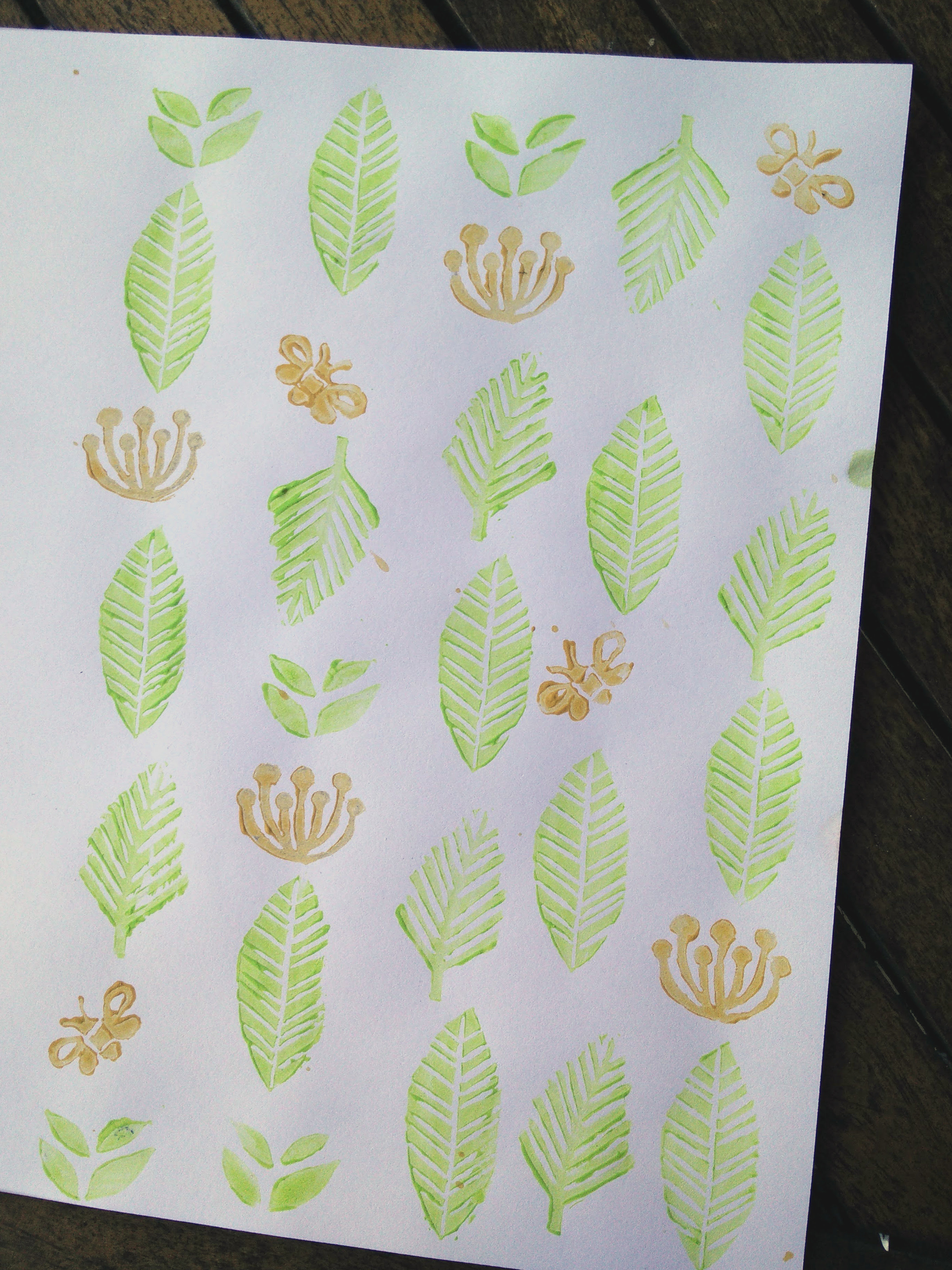 Hand carved rubber stamps 12