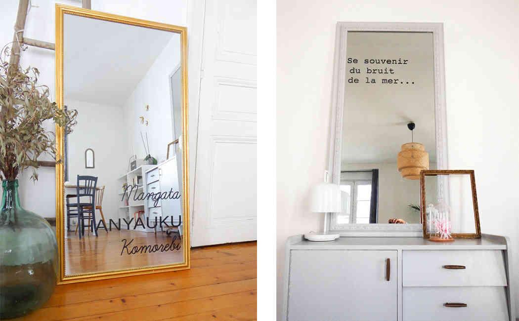 Low diy ecrire sur miroir