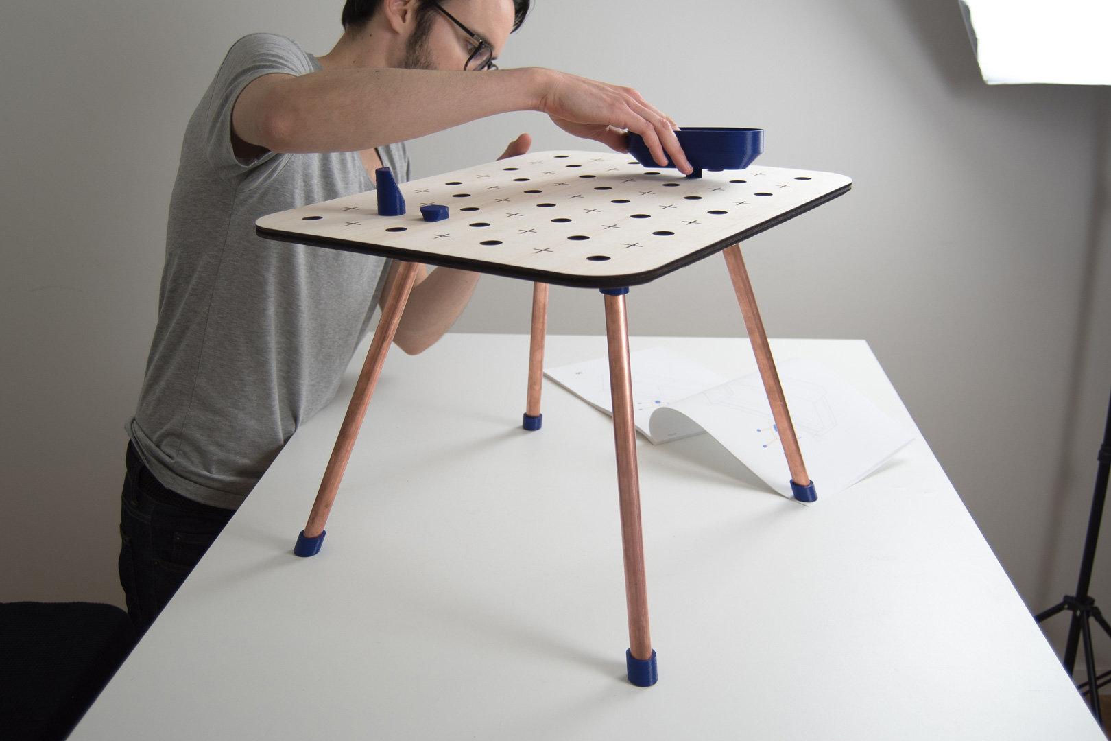04 mise en place  table basse
