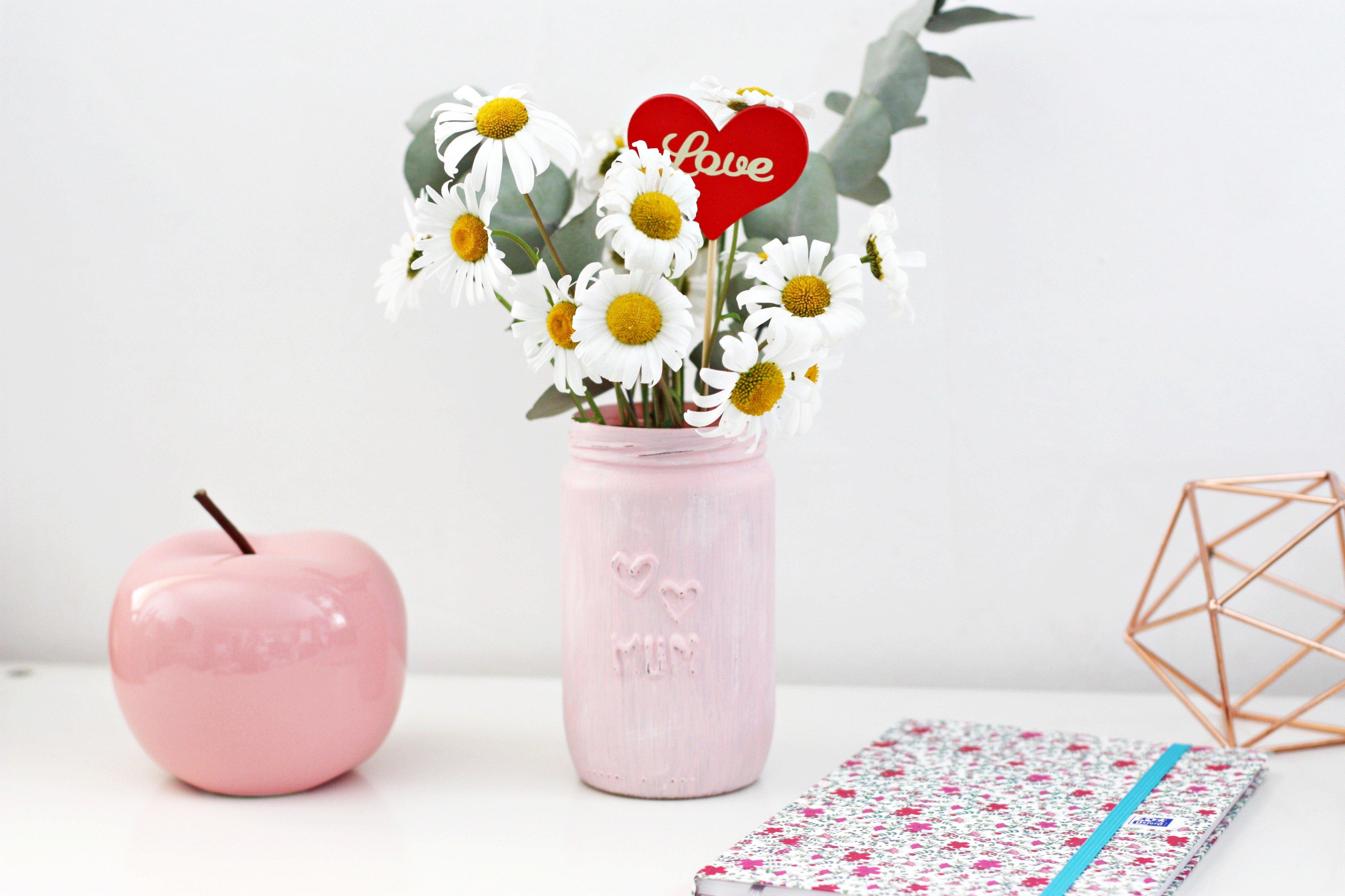 tutoriel diy diy f te des m res un pot de fleurs effet. Black Bedroom Furniture Sets. Home Design Ideas