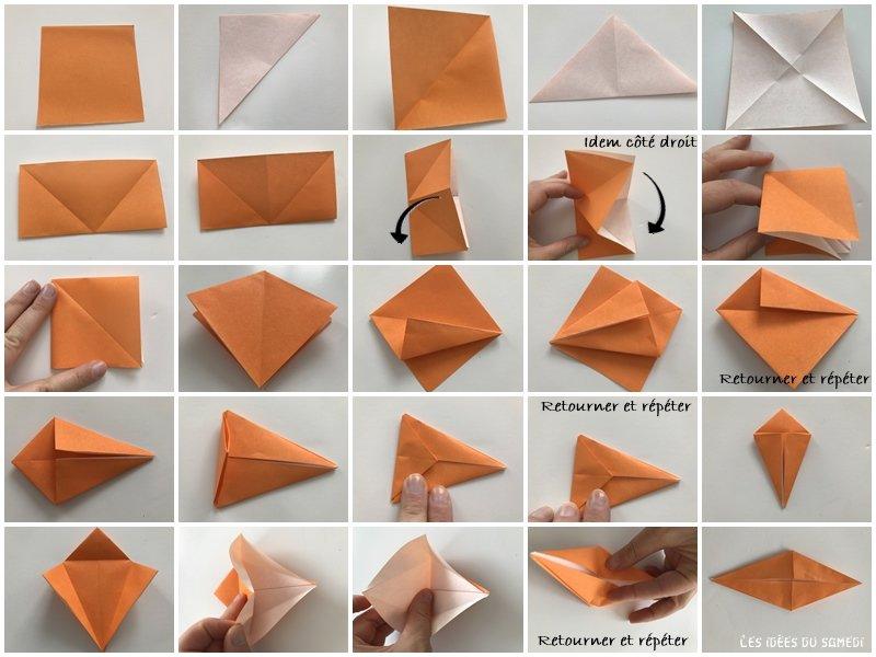 Base de oiseau origami