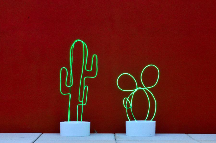 Diy cactus lumineux neon