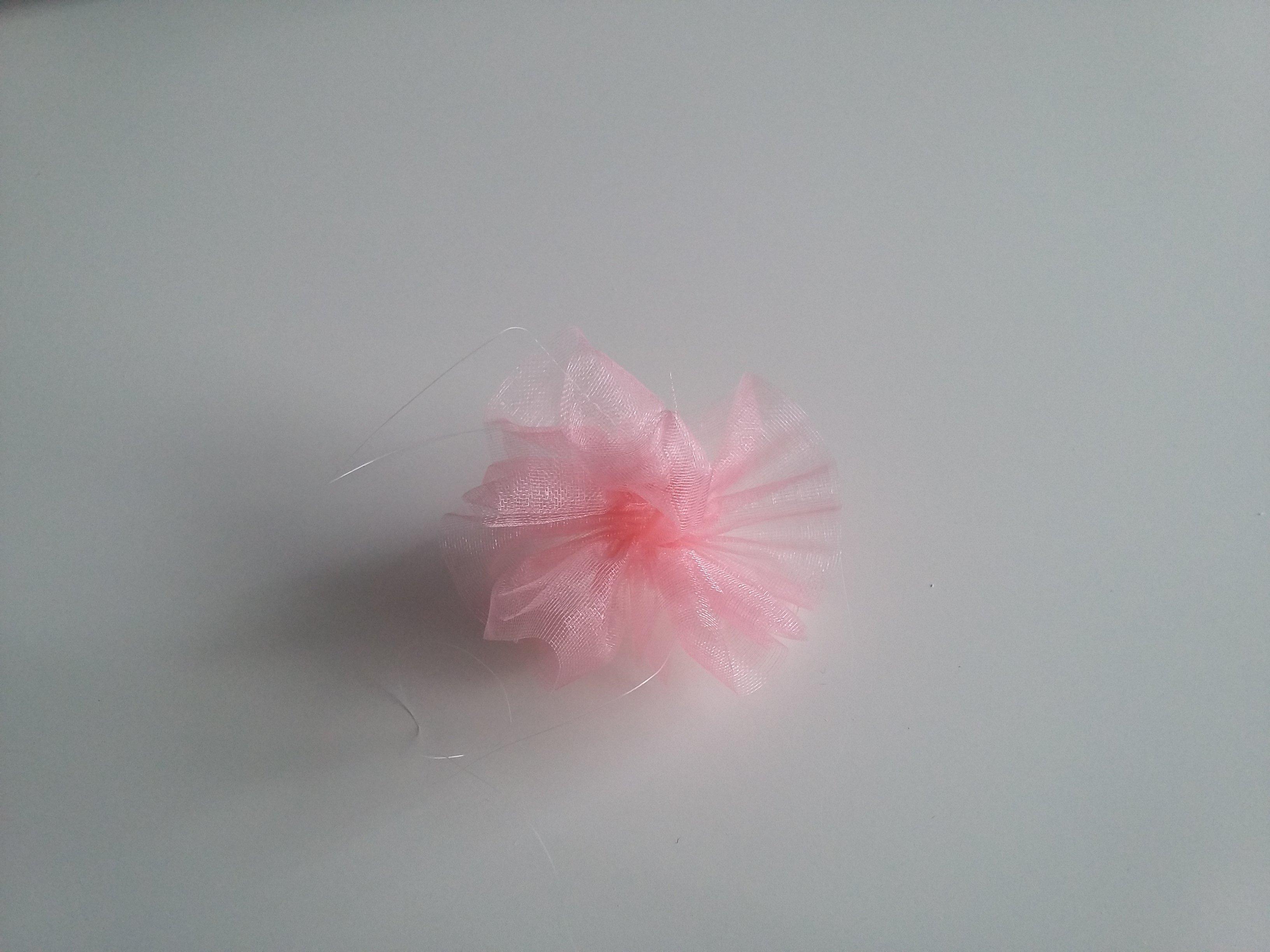 Bullesdeplume bandeau floral organza fleur ok