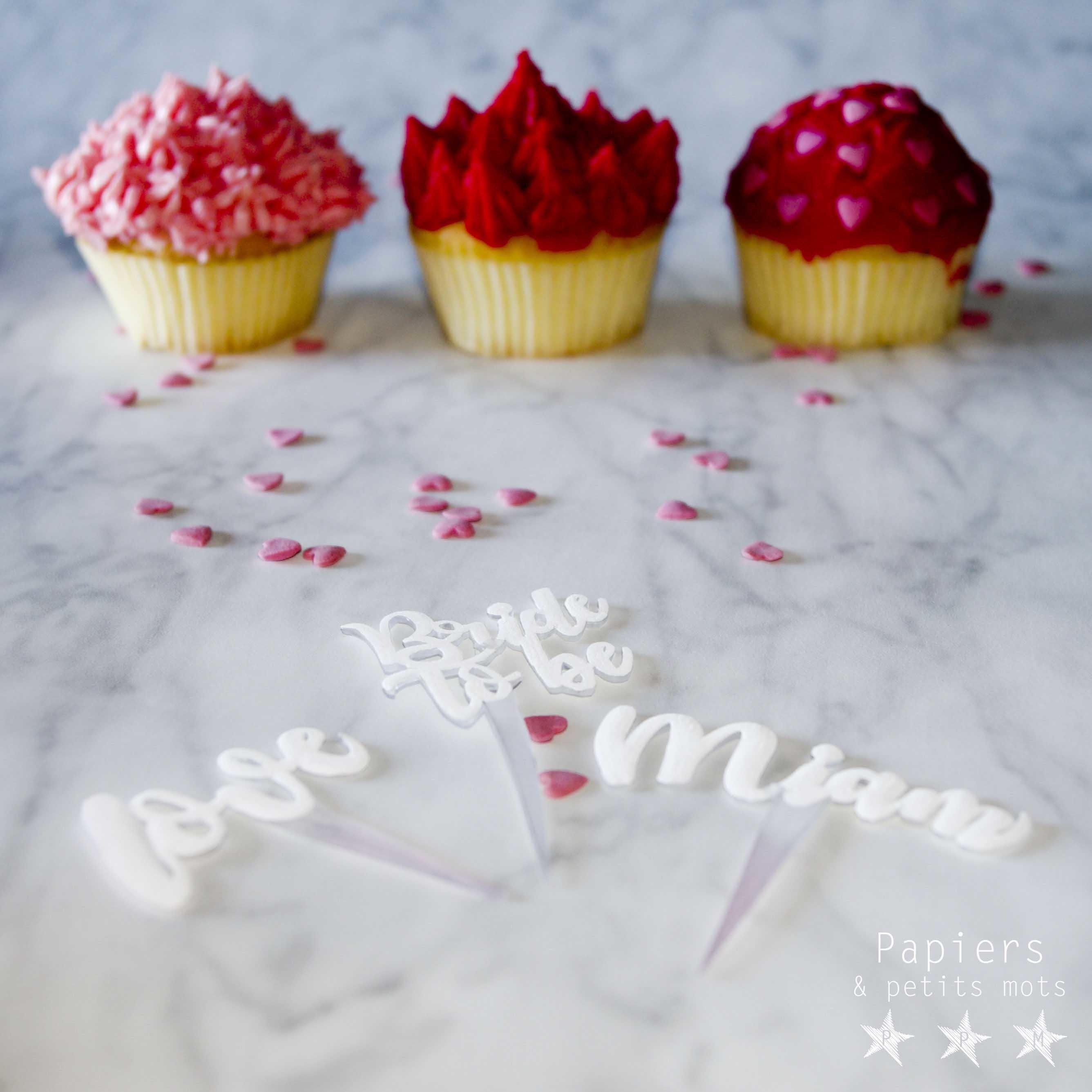 Cake topper plastique dingue 15
