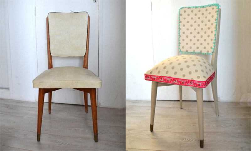 tutoriel diy r novation d 39 une vieille chaise en bois et tissus. Black Bedroom Furniture Sets. Home Design Ideas