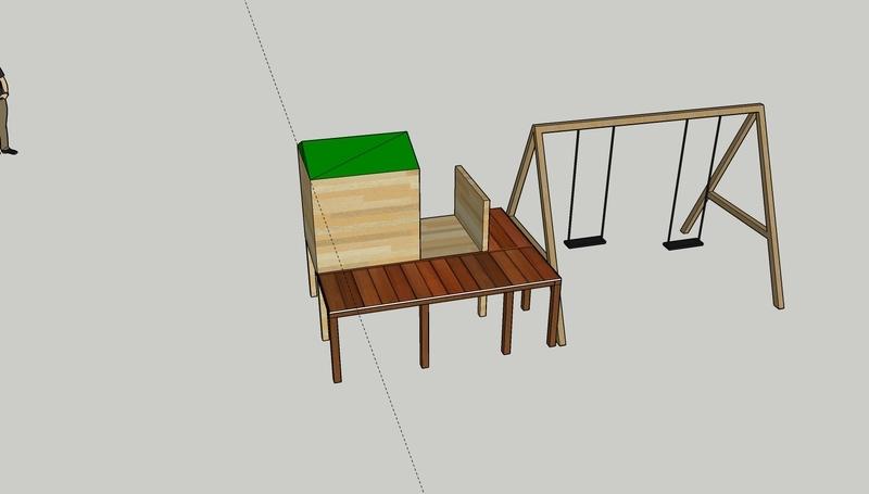 Cabanne structure avec balan%c3%a7oire et plancher