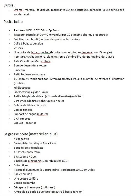 Liste mat%c3%a9riel