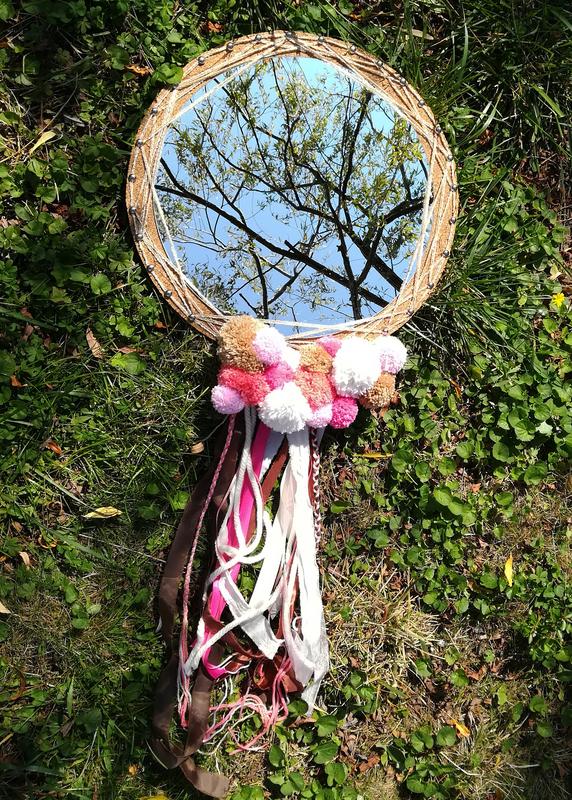 Diy miroir dreamcatcher attrape reve lumineux