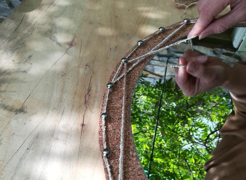 Tissage mandala attrape reve croiser triangle