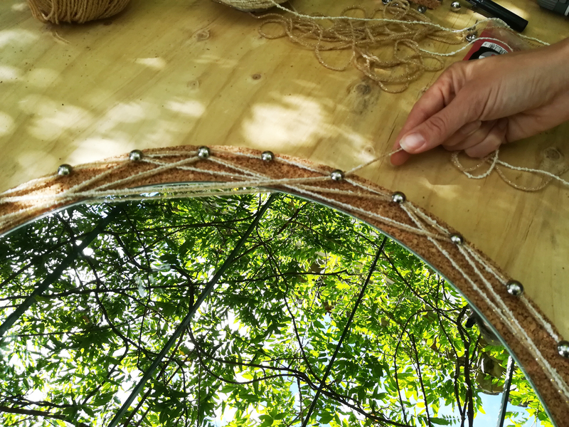 Tissage mandala attrape reve croiser triangle  2